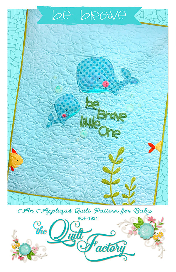 Be Brave Applique Quilt Pattern - brewstitched.com
