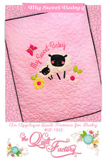 My Sweet Baby Applique Quilt Pattern - brewstitched.com