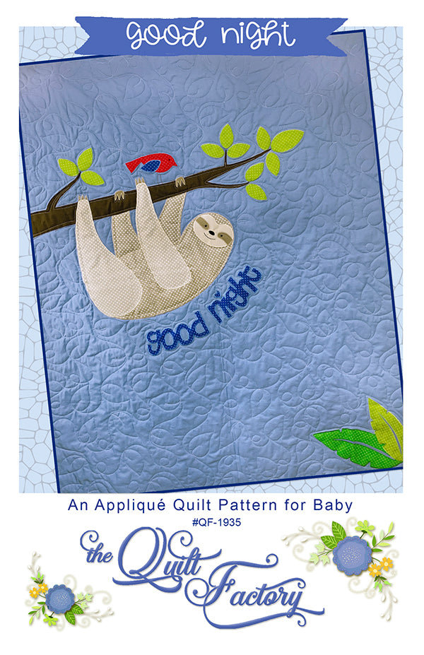 Good Night Applique Quilt Pattern