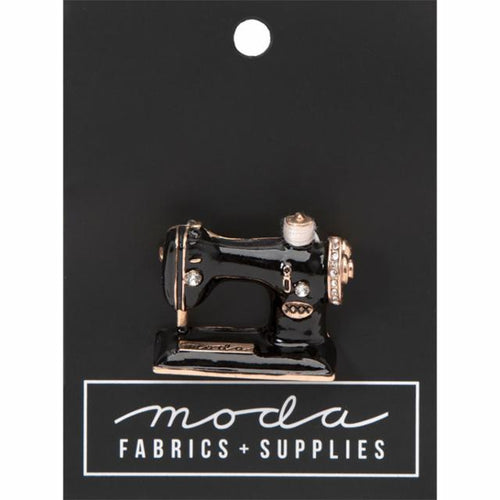 Moda Sewing Machine Enamel Pin - brewstitched.com
