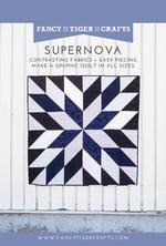 Supernova Quilt Paper Pattern from Fancy Tiger Crafts - brewstitched.com
