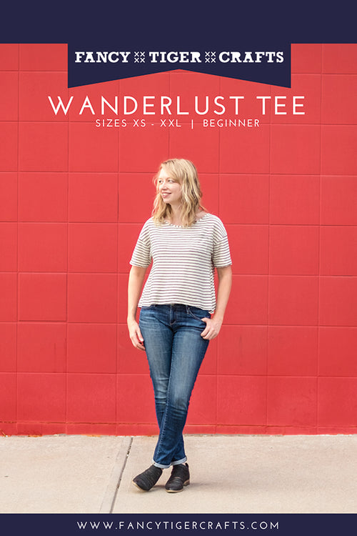 Wanderlust Tee Paper Pattern from Fancy Tiger Crafts - brewstitched.com