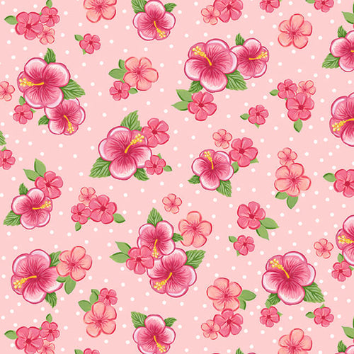 Let's Flamingle Hibiscus - Priced by Half Yard - brewstitched.com