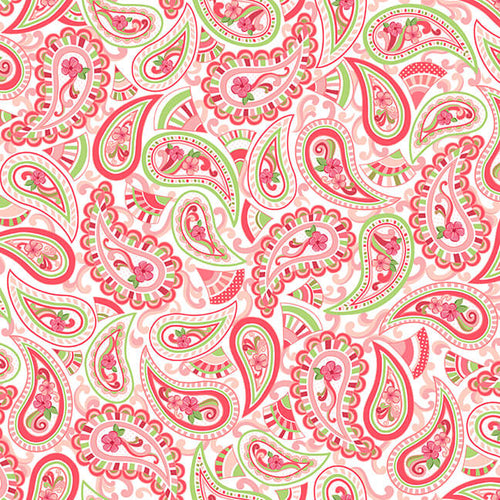Let's Flamingle Paisley - Priced by Half Yard - Expected Jan 2020 - brewstitched.com