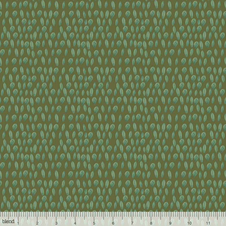 Forest Friends Sweet Leaves Olive - brewstitched.com