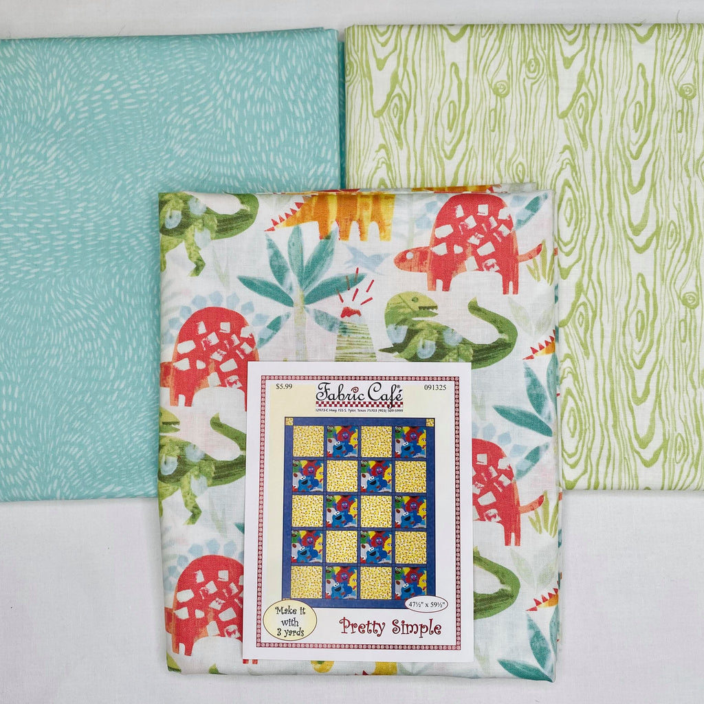 You Rock Dino Pretty Simple 3 Yard Quilt Kit - brewstitched.com