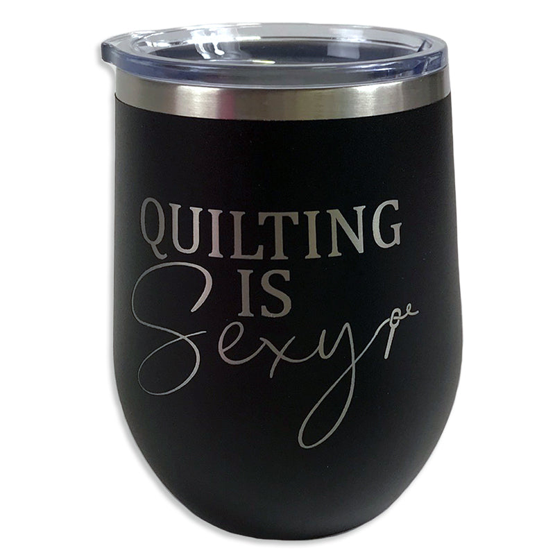 Tumbler Black Quilting is Sexy - brewstitched.com