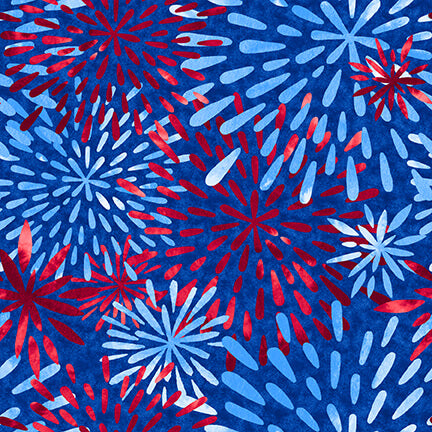 One Land One Flag Patriotic Fireworks - Priced by half yard - Expected Jan 2021 - brewstitched.com