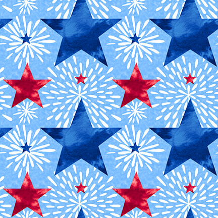 One Land One Flag Patriotic Stars - Priced by half yard - Expected Jan 2021 - brewstitched.com