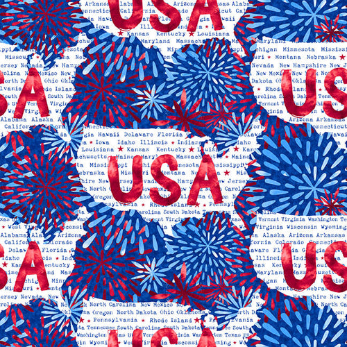 One Land One Flag Patriotic Stars USA - Priced by half yard - Expected Jan 2021 - brewstitched.com