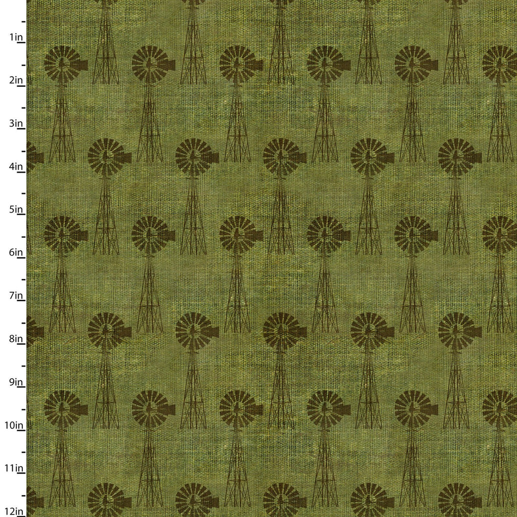 On the Farm Collection Windmill Green - Priced by the Half Yard - Coming Sept 2020 - brewstitched.com