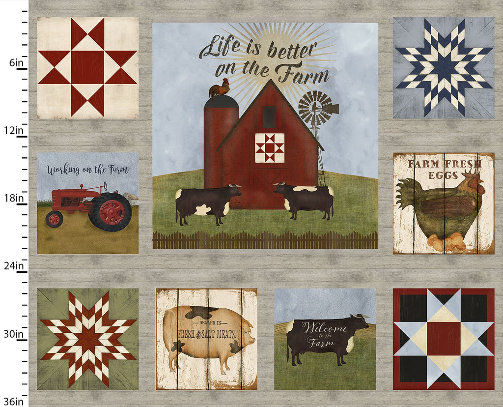 On the Farm Collection Decor - Priced by the Panel - Coming Sept 2020 - brewstitched.com