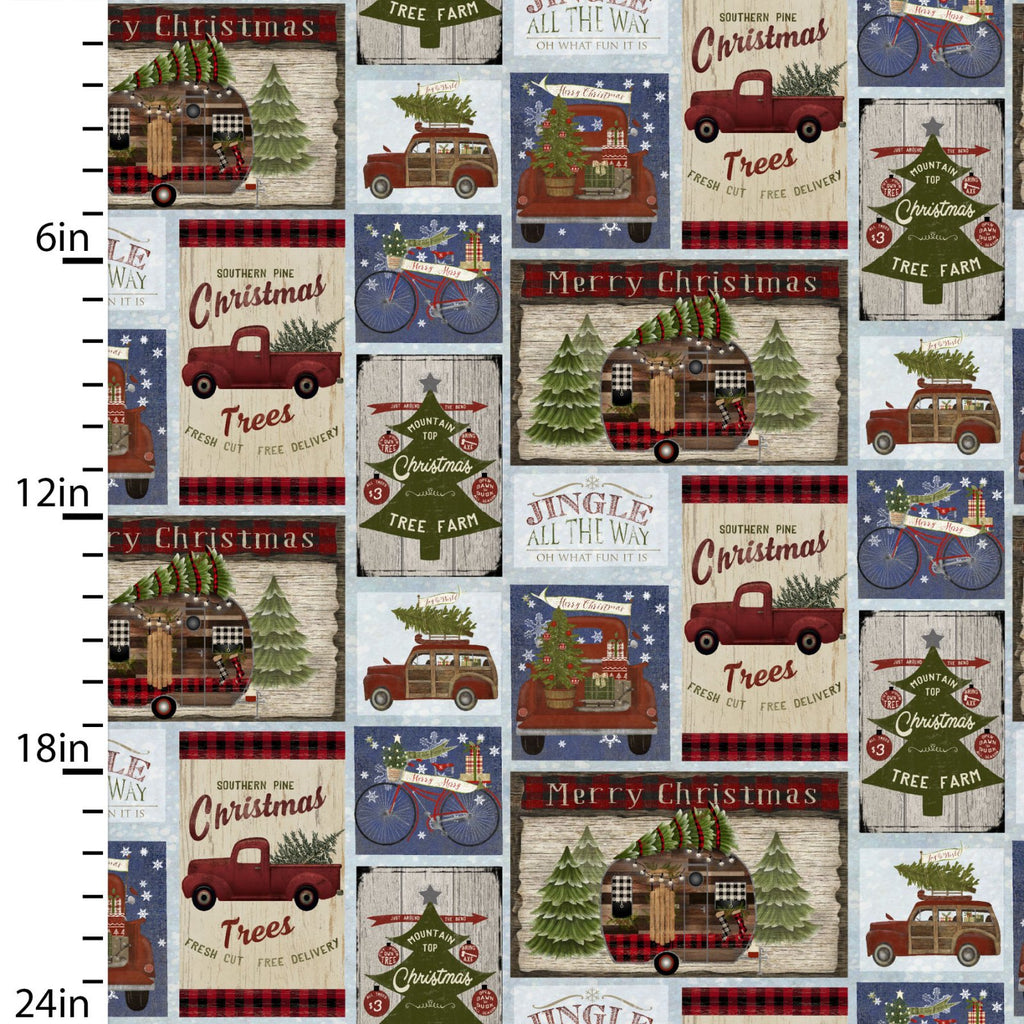 Jingle All The Way Motif - Priced by the Half Yard - brewstitched.com