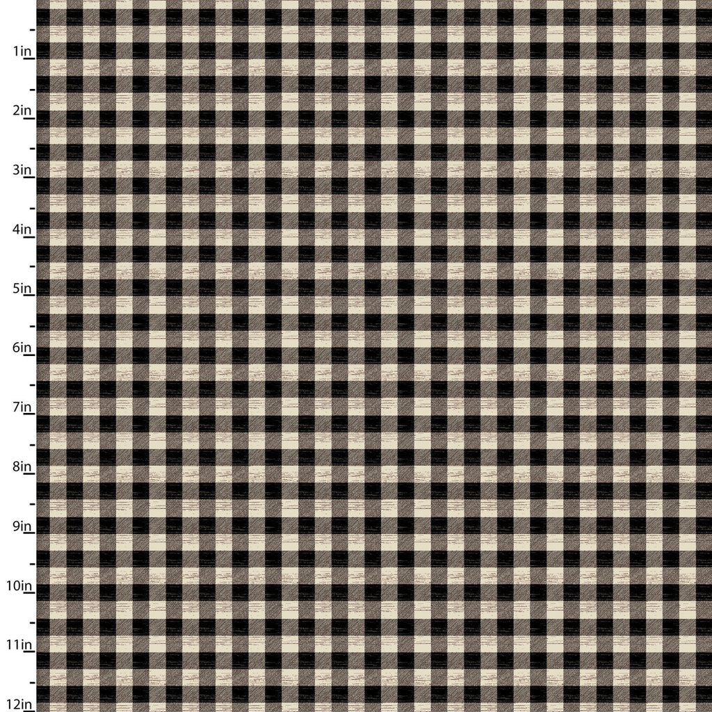 Jingle All The Way Cream and Black Buffalo Plaid - Priced by the Half Yard - brewstitched.com