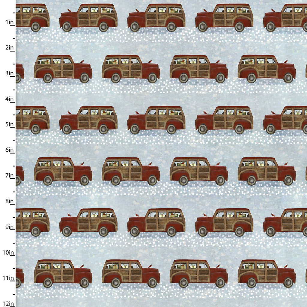 Jingle All The Way Vintage Truck Parade - Priced by the Half Yard - brewstitched.com