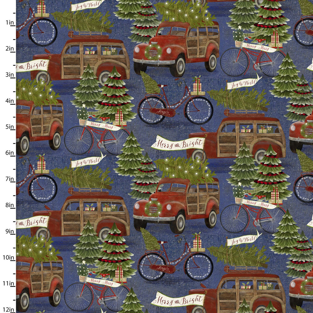 Jingle All The Way Vintage Trucks - Priced by the Half Yard - brewstitched.com