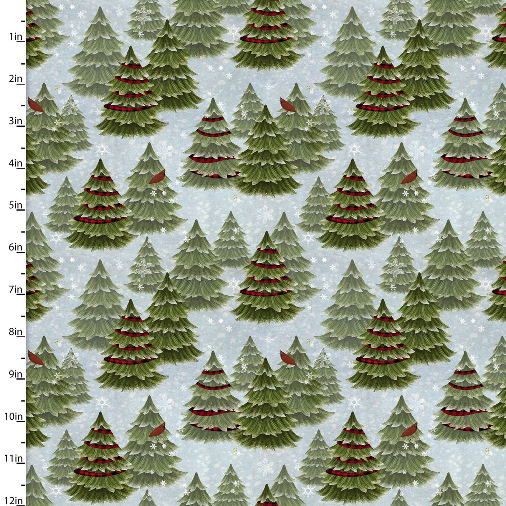 Jingle All The Way Christmas Trees - Priced by the Half Yard - brewstitched.com