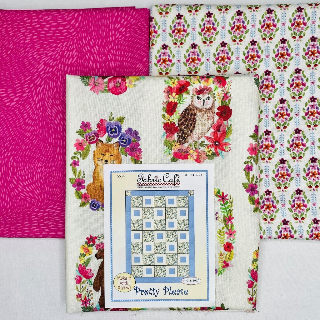 Forest Friends Pretty Please 3 Yard Quilt Kit - brewstitched.com