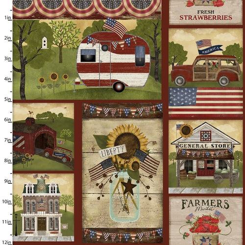 Patriotic Summer - Priced by the Half Yard - Expected Feb 2021 - brewstitched.com