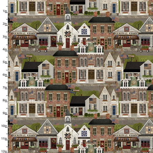 Patriotic Summer Homes - Priced by the Half Yard - Expected Feb 2021 - brewstitched.com