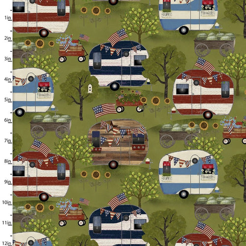 Patriotic Summer Campers - Priced by the Half Yard - Expected Feb 2021 - brewstitched.com