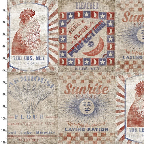 Patriotic Summer Distressed - Priced by the Half Yard - Expected Feb 2021 - brewstitched.com