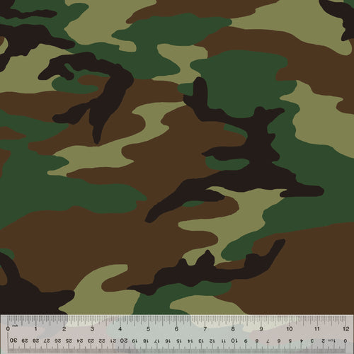 Woodland Camo Fleece - Priced by the Half Yard - brewstitched.com
