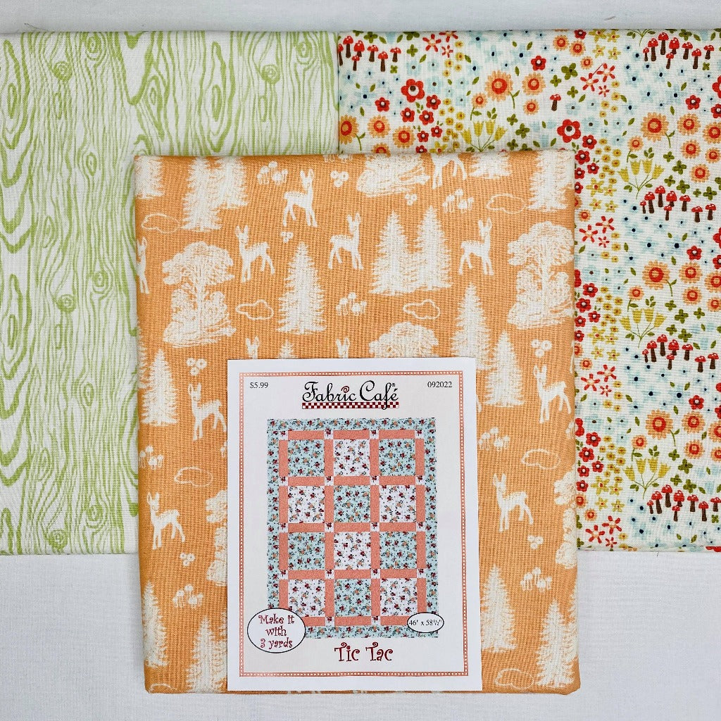 Woodland Tic Tac 3 Yard Quilt Kit - brewstitched.com