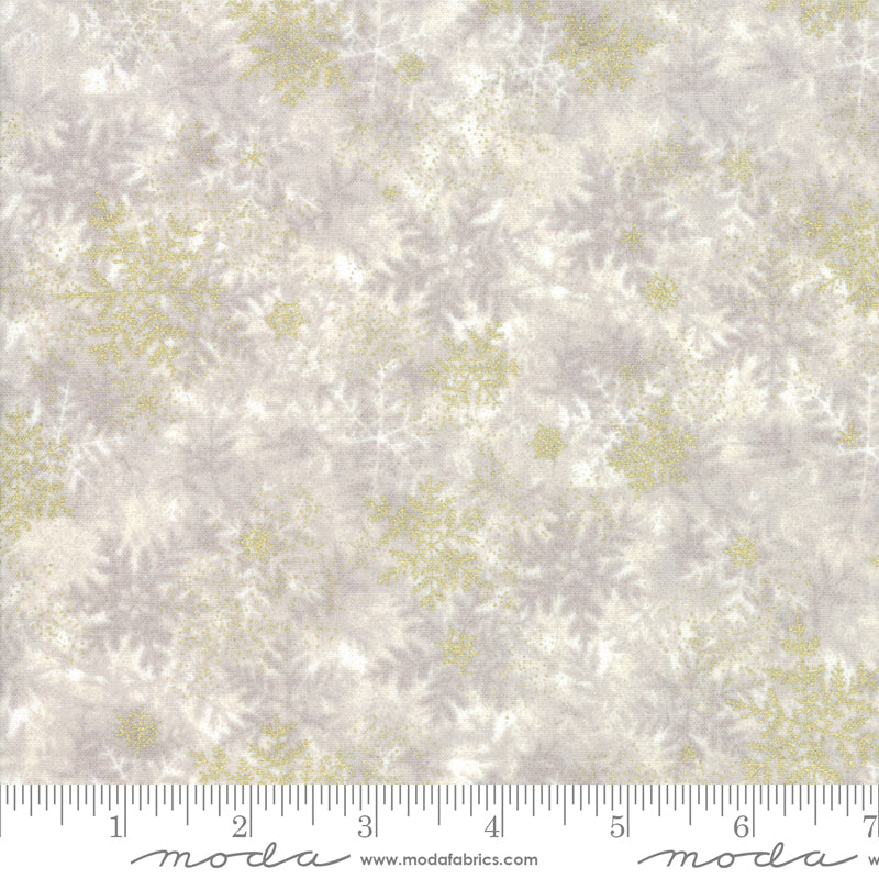 Forest Frost Glitter Snowflake - Priced by the Half Yard - brewstitched.com