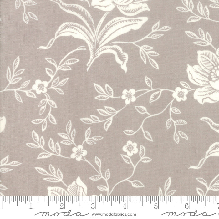 All Hallows Eve Woodblock Floral Grey - Priced by the Half Yard - brewstitched.com