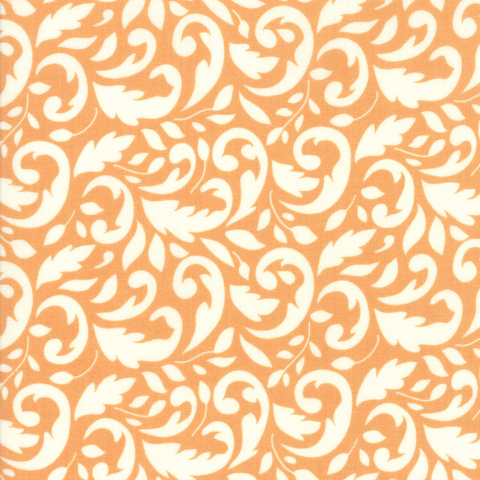 All Hallows Eve Flourish Orange - Priced by the Half Yard - brewstitched.com