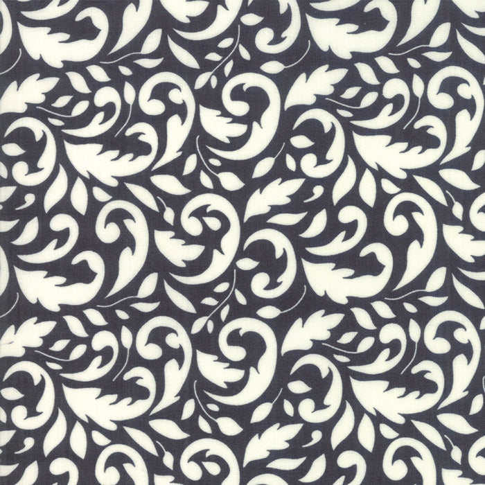 All Hallows Eve Flourish Black - Priced by the Half Yard - brewstitched.com