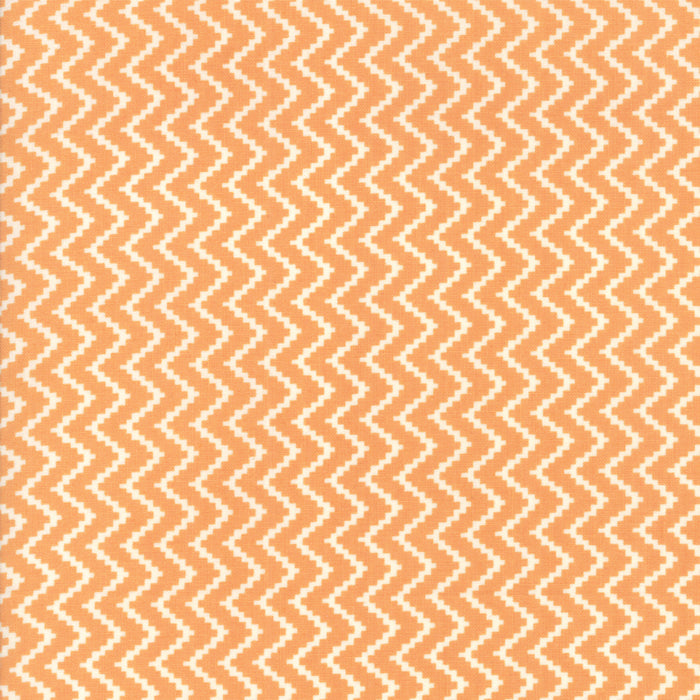 All Hallows Eve Zigzag Orange - Priced by the Half Yard - brewstitched.com
