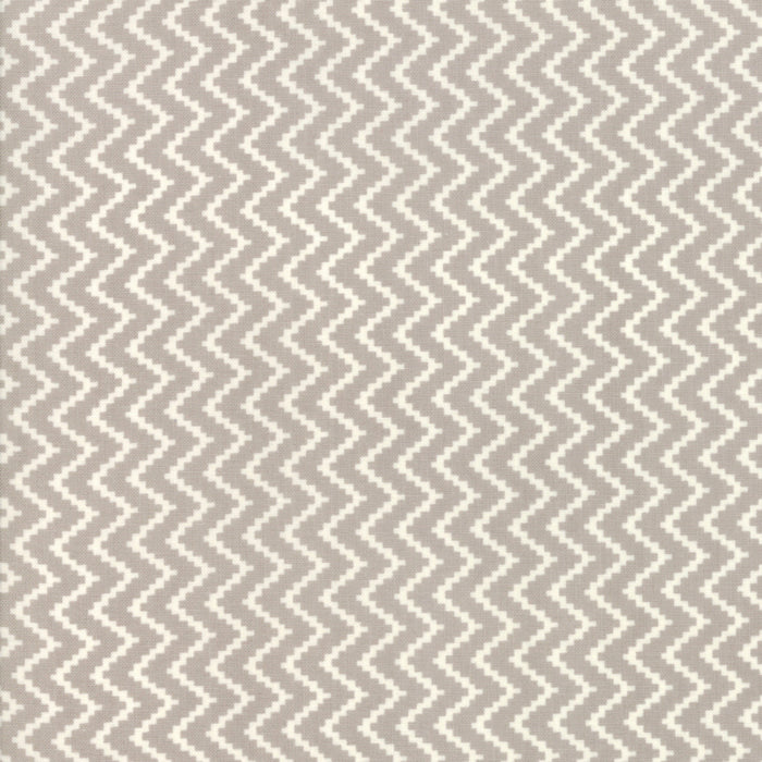 All Hallows Eve Zigzag Grey - Priced by the Half Yard - brewstitched.com