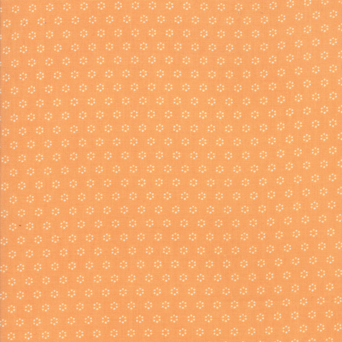 All Hallows Eve Polka Dot Circles Orange - Priced by the Half Yard - brewstitched.com