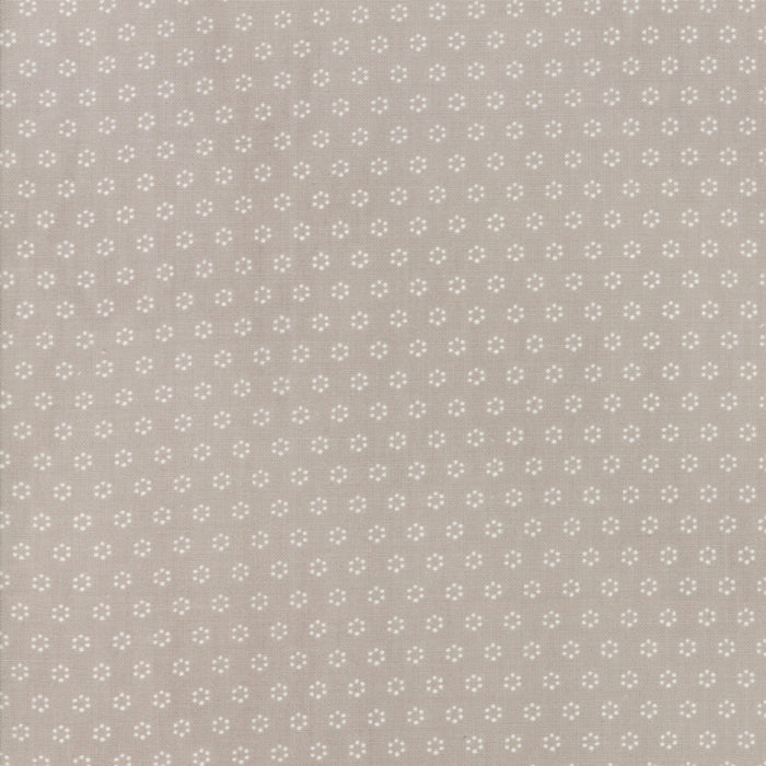 All Hallows Eve Polka Dot Circles Grey - Priced by the Half Yard - brewstitched.com