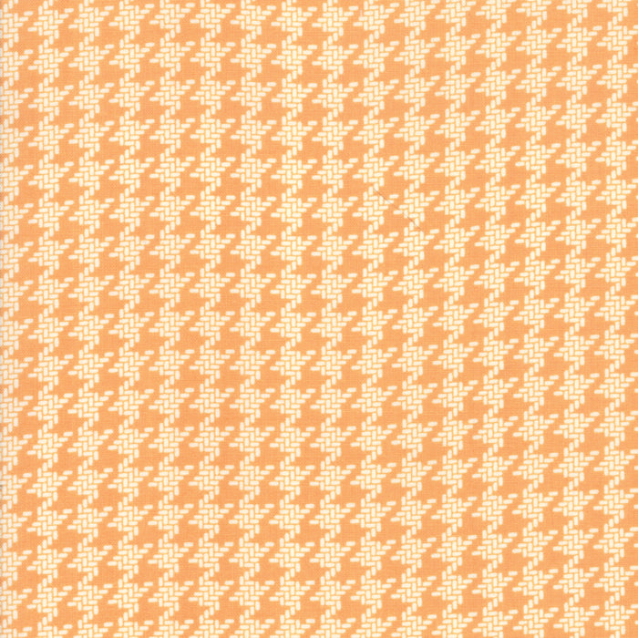 All Hallows Eve Houndstooth Orange - Priced by the Half Yard - brewstitched.com
