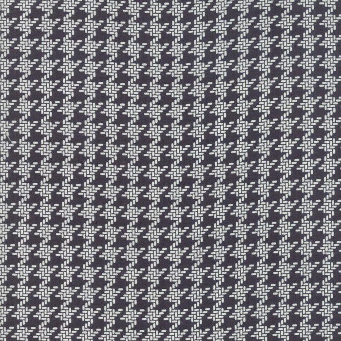 All Hallows Eve Houndstooth Black - Priced by the Half Yard - brewstitched.com