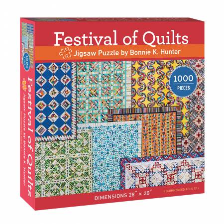 Festival Of Quilts Jigsaw Puzzle By Bonnie K Hunter - brewstitched.com
