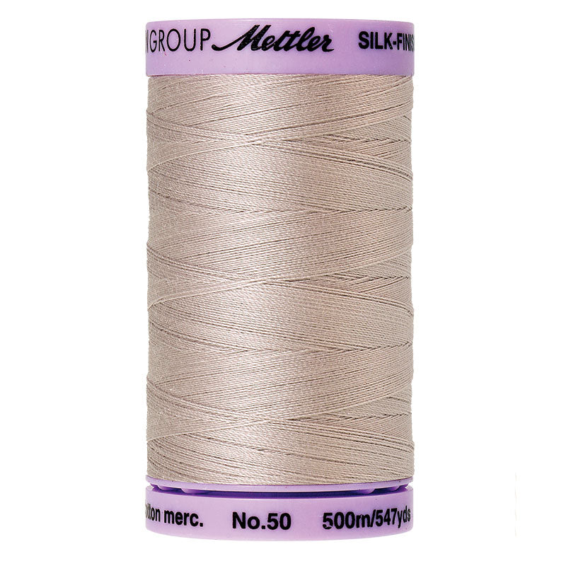 Mettler 50 weight Cotton Thread in Cloud Gray 9104 0319 - brewstitched.com