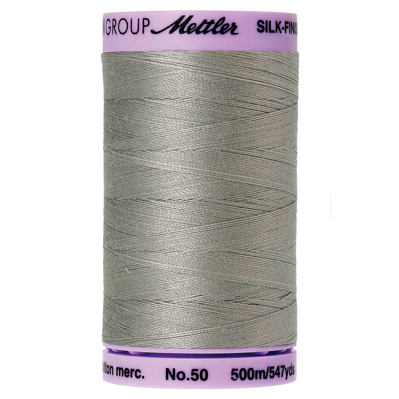 Mettler 50 weight Cotton Thread in Titan Gray 9104 0413 - brewstitched.com