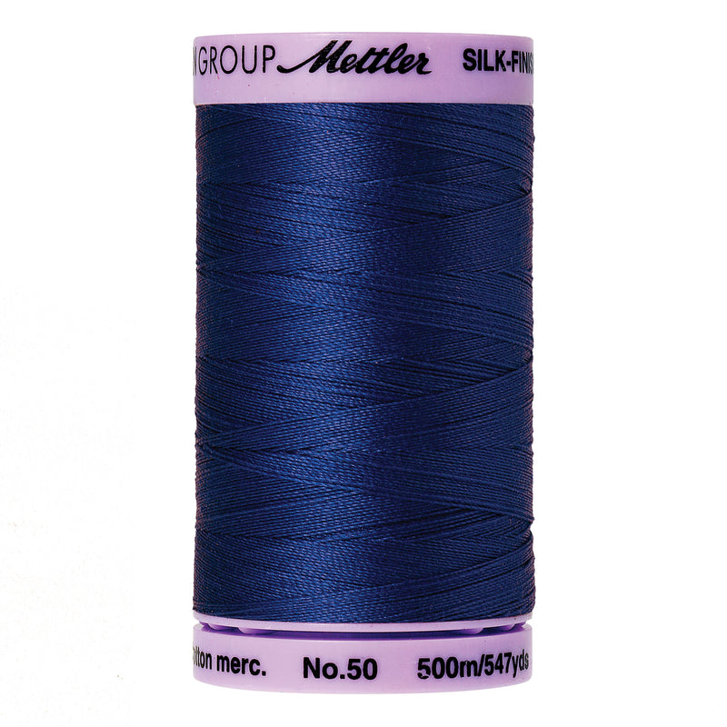 Mettler 50 weight Cotton Thread in Royal Blue 9104 1303 - brewstitched.com