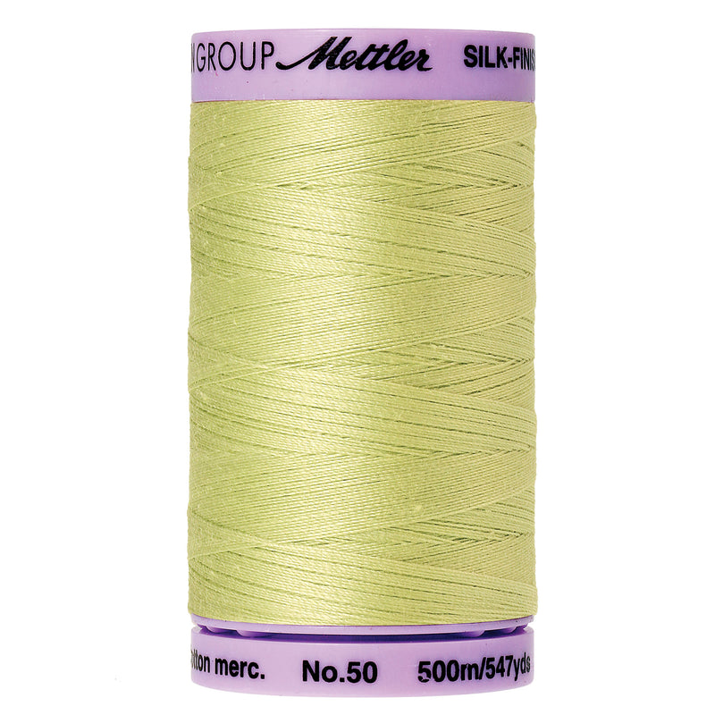 Mettler 50 weight Cotton Thread in Spring Green 9104 1343 - brewstitched.com