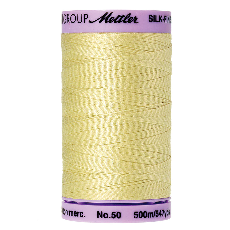 Mettler 50 weight Cotton Thread in Lemon Frost 9104 1412 - brewstitched.com