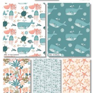 Under the Sea Half Yard Bundle - Includes 5 Prints - brewstitched.com