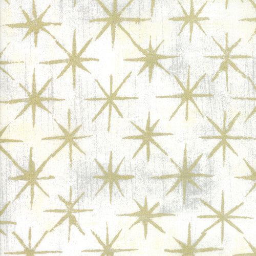 Grunge Seeing Stars Metallic Vanilla - Priced by the Half Yard - brewstitched.com