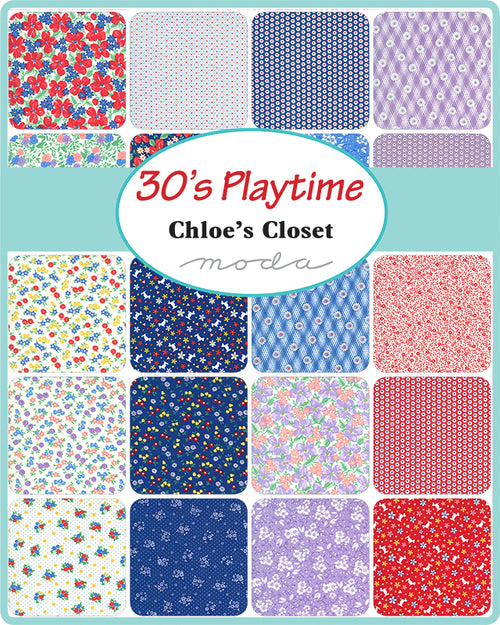 30s Playtime Mini Charm Pack - Expected April 2021 - brewstitched.com