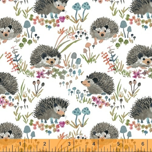 Fox Woods Hedgehog White - Priced by the Half Yard - brewstitched.com
