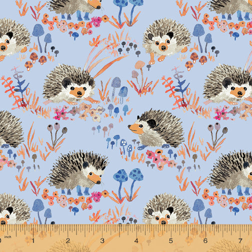 Fox Woods Hedgehog Blue - Priced by the Half Yard - brewstitched.com
