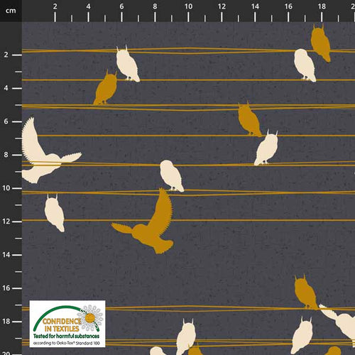 Birds on the Move Birds on Line Black - Priced by the Half Yard - Expected Jan 2021 - brewstitched.com